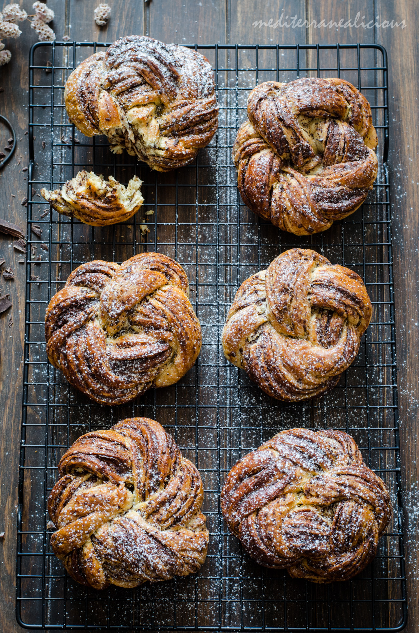 Braided Chocolate Brioche