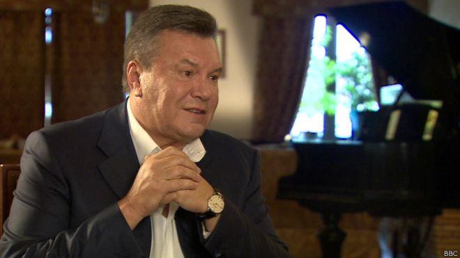 Viktor Janukovič, BBC