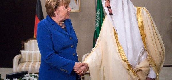 Angela Merkel v Saudskej Arabii