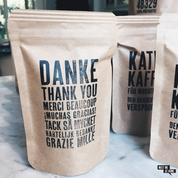 Coffee48329 Gastgeschenke | Danke Thank you