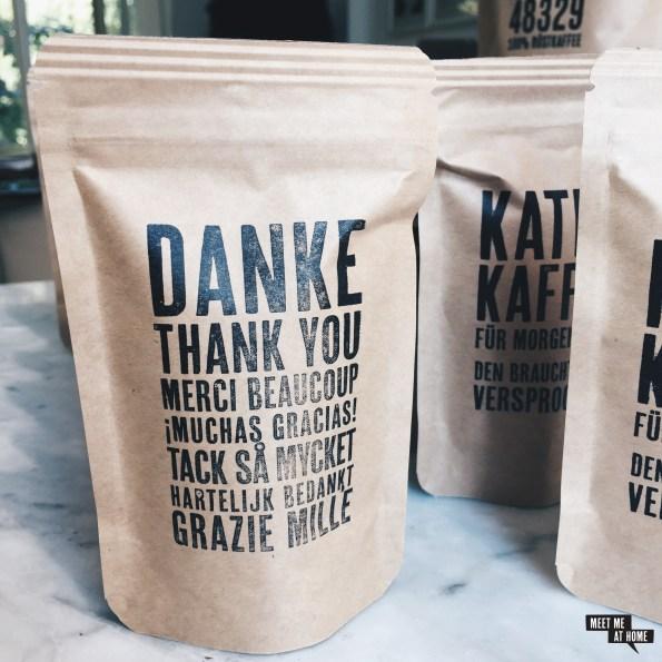 Coffee48329 Gastgeschenke | Danke Thank you