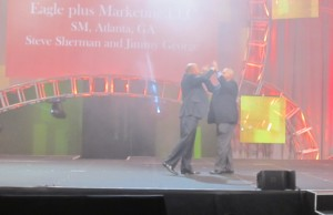 Stage recognition at the annual convention in Vegas. Stupid fog machine! :)