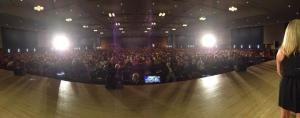 View from the stage!