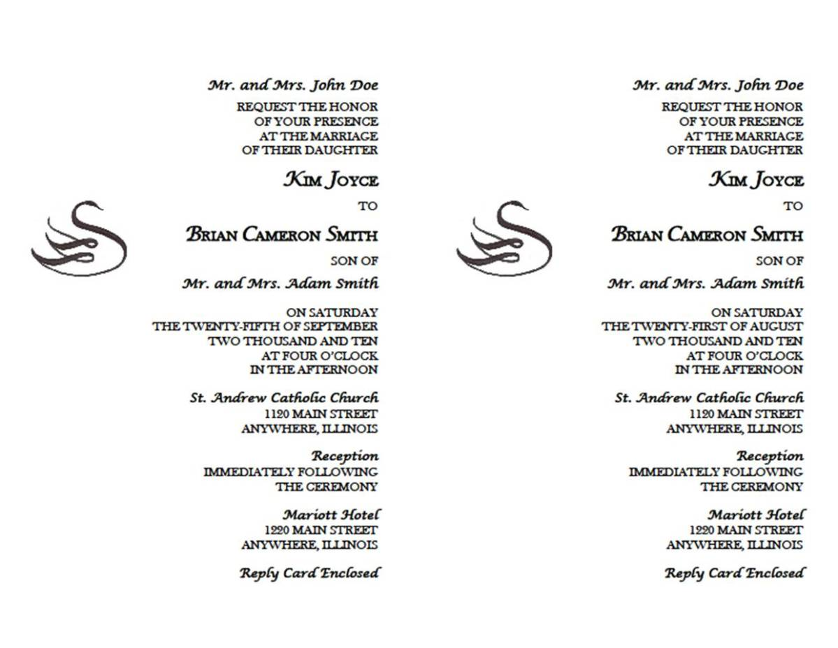 Our Wedding Invitations | The Swans