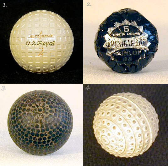 Four Old-Timey Golf Balls - Antique Athlete