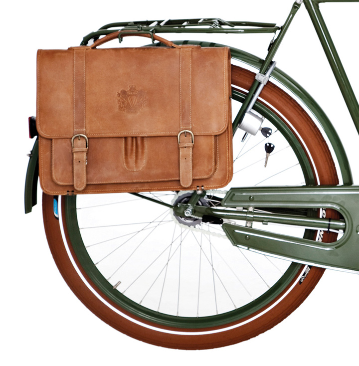 Velorbis Old School Leather Satchel (Sand)