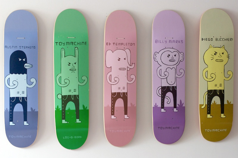 Jim Houser Artworks – Toy Machine Low Brow Skateboards. Modern 50