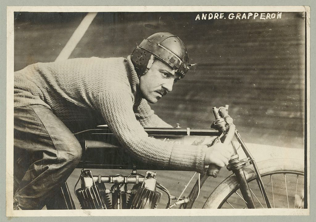 Andre Grapperon :: French Champion Motorcyclist :: Library Of Congress
