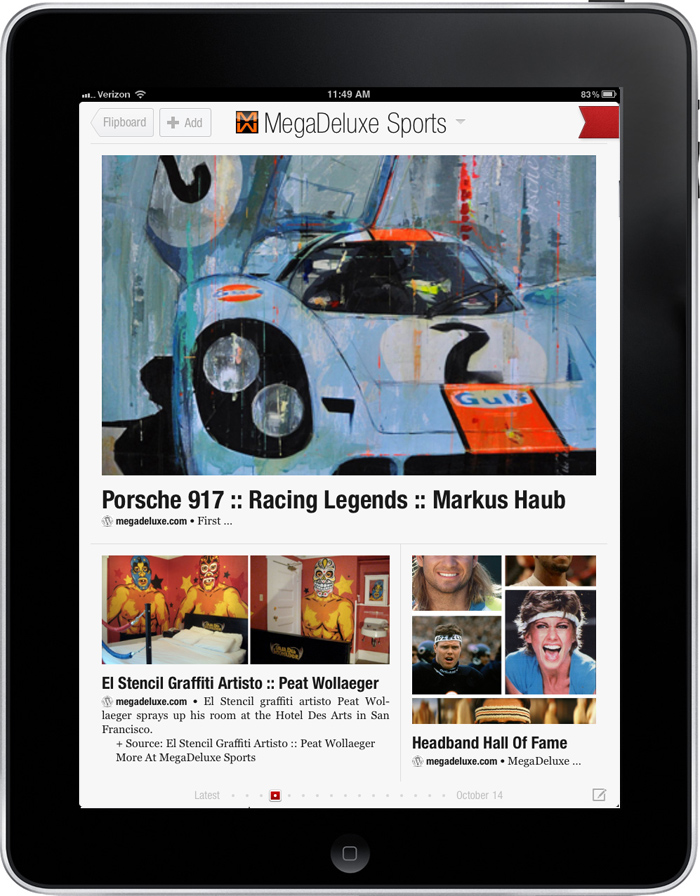 MegaDeluxe Sports Now On FlipBoard