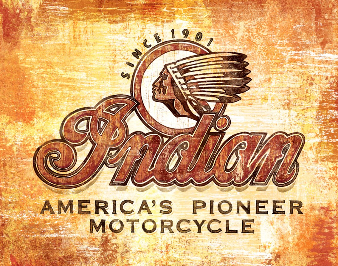 My dad used to take me along to these motorcycle races that had traveling antique bike shows with them.  It was the first time I ever saw an Indian motorcycle.  They were really great memories that were gratifying to express through art.