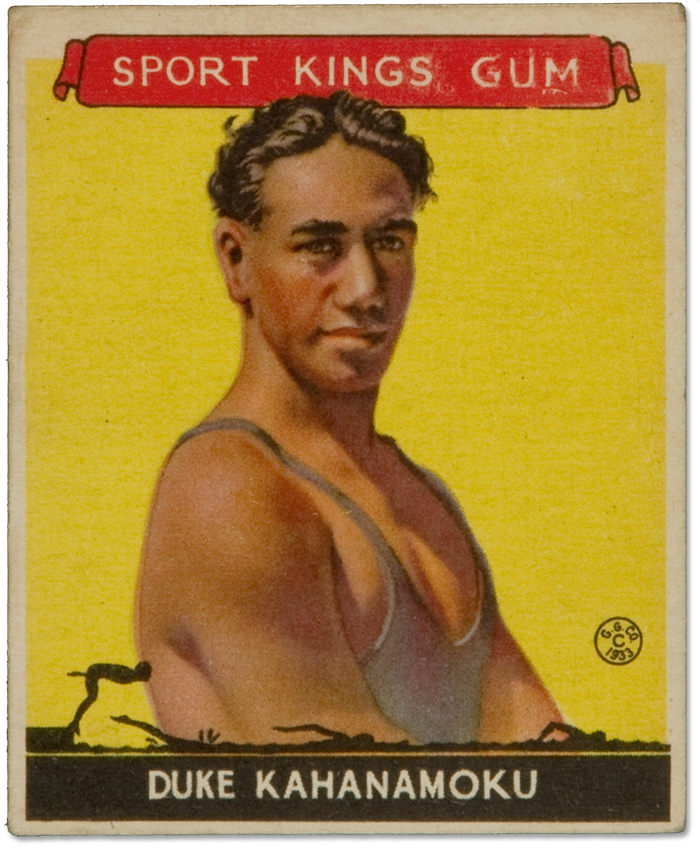 Duke Kahanamoku :: 1933 Sport Kings Card (1)