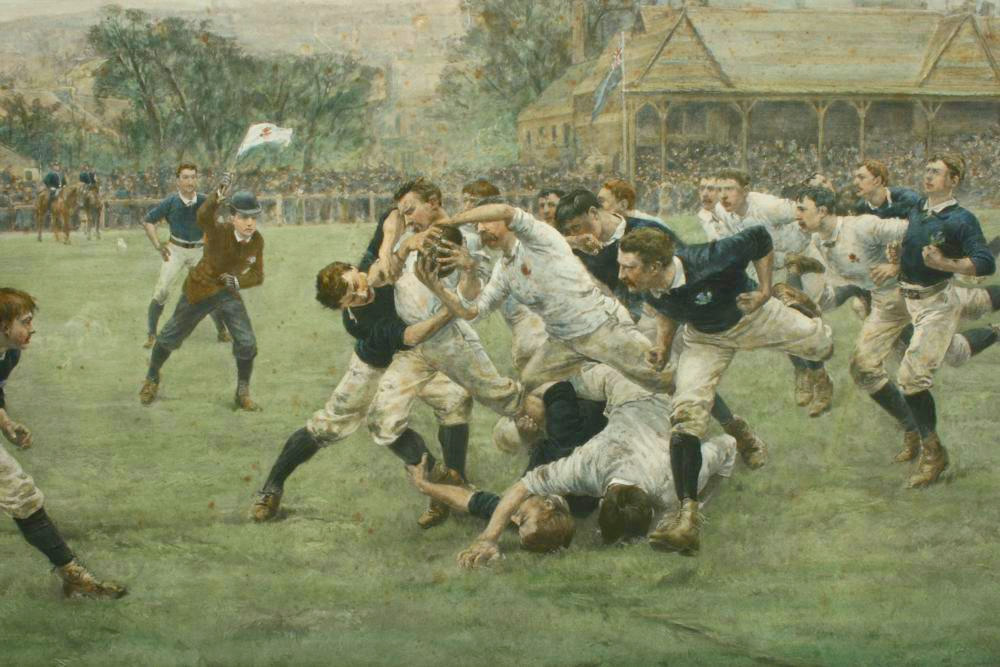 Rugby Engraving England V. Scotland :: By W.H Overend 1889
