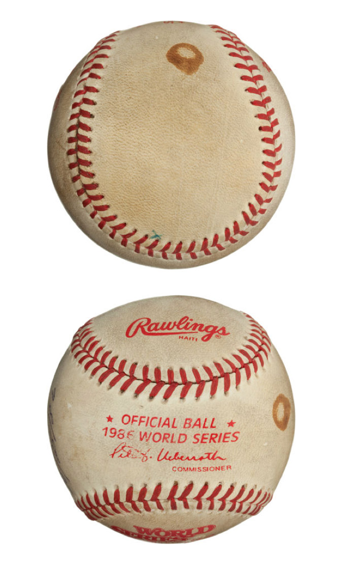 "The Famous ""Buckner Ball"" from the 1986 World Series, Game Six. (2)"