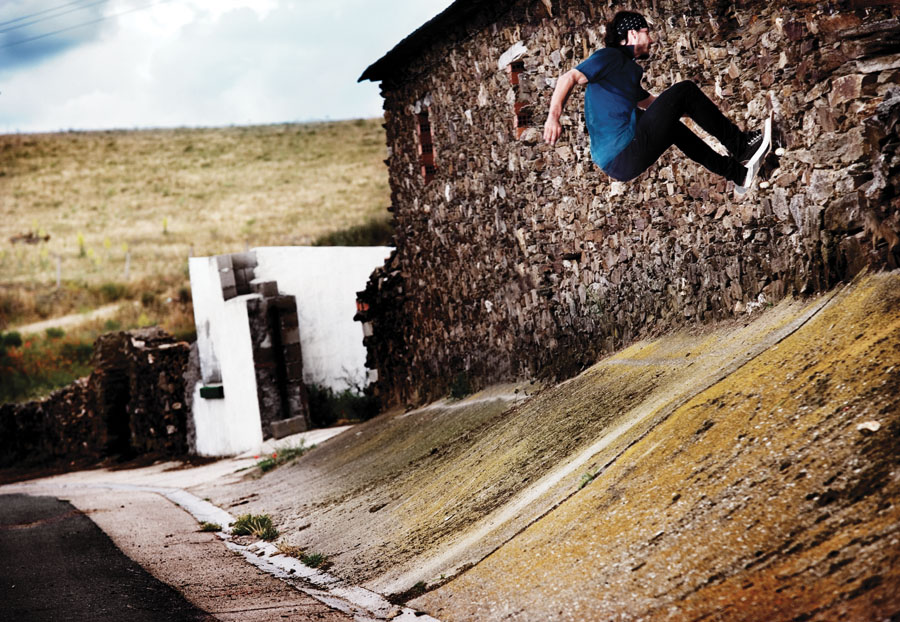 Hugo Liard. Frontside Wallride. Andalusia