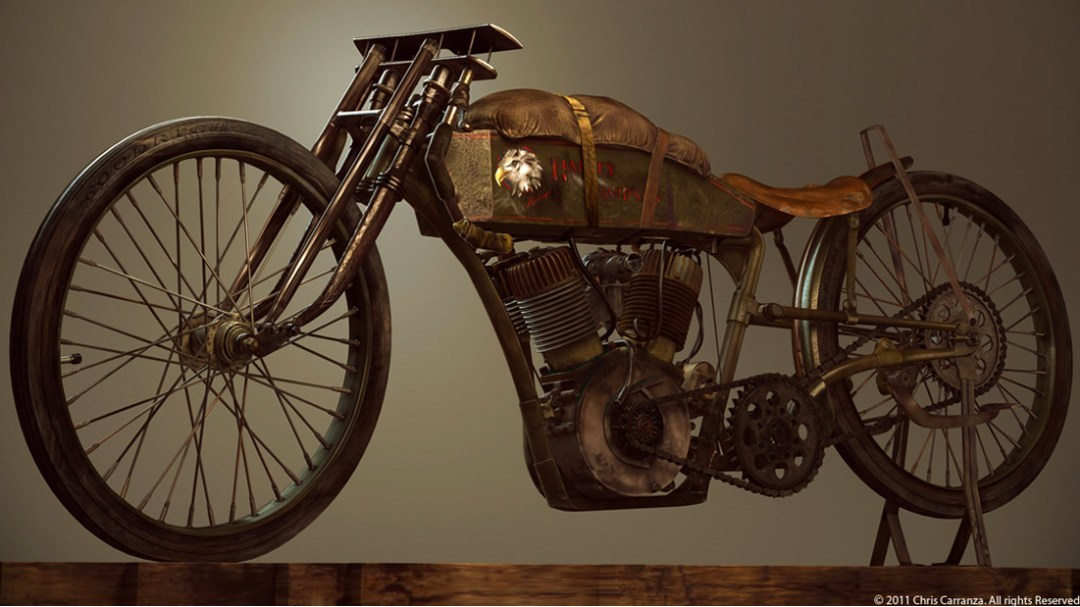 1915 Harley Davidson Board Track Racer :: By Chris Carranza (1)