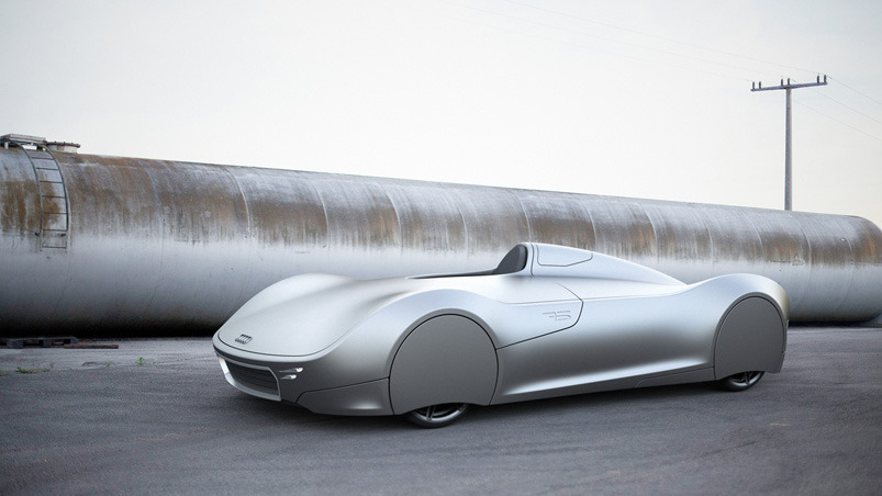 The Stromlinie 75 Concept Car by Lukas Rittwage :: via KNSTRCT