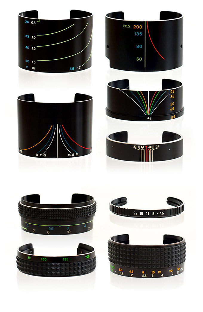 Vintage Camera Lens Bracelets by SDPNT :: via Colossal