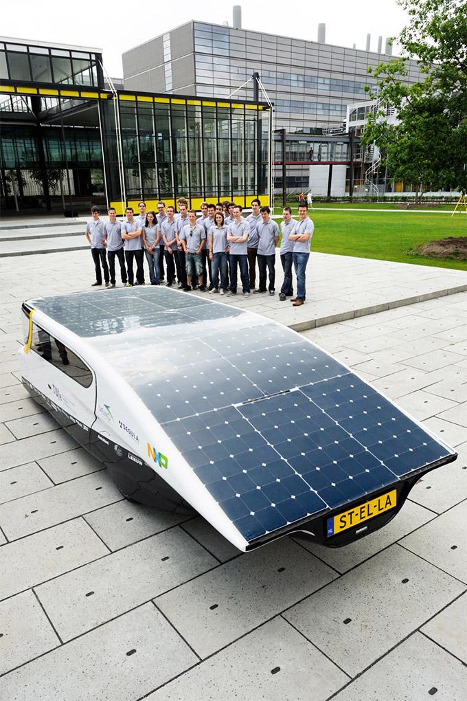 World's First electricity Producing Solar Powered Family Car :: via designboom
