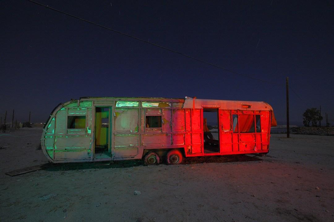 Salton Sea, California. Broken-down