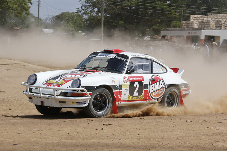 Porsche 911 at the East African Safari Rally