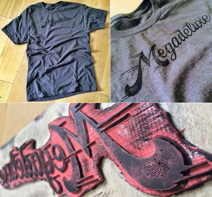 Megadeluxe Rubber Stamped T-Shirt: Perfect Imperfection""