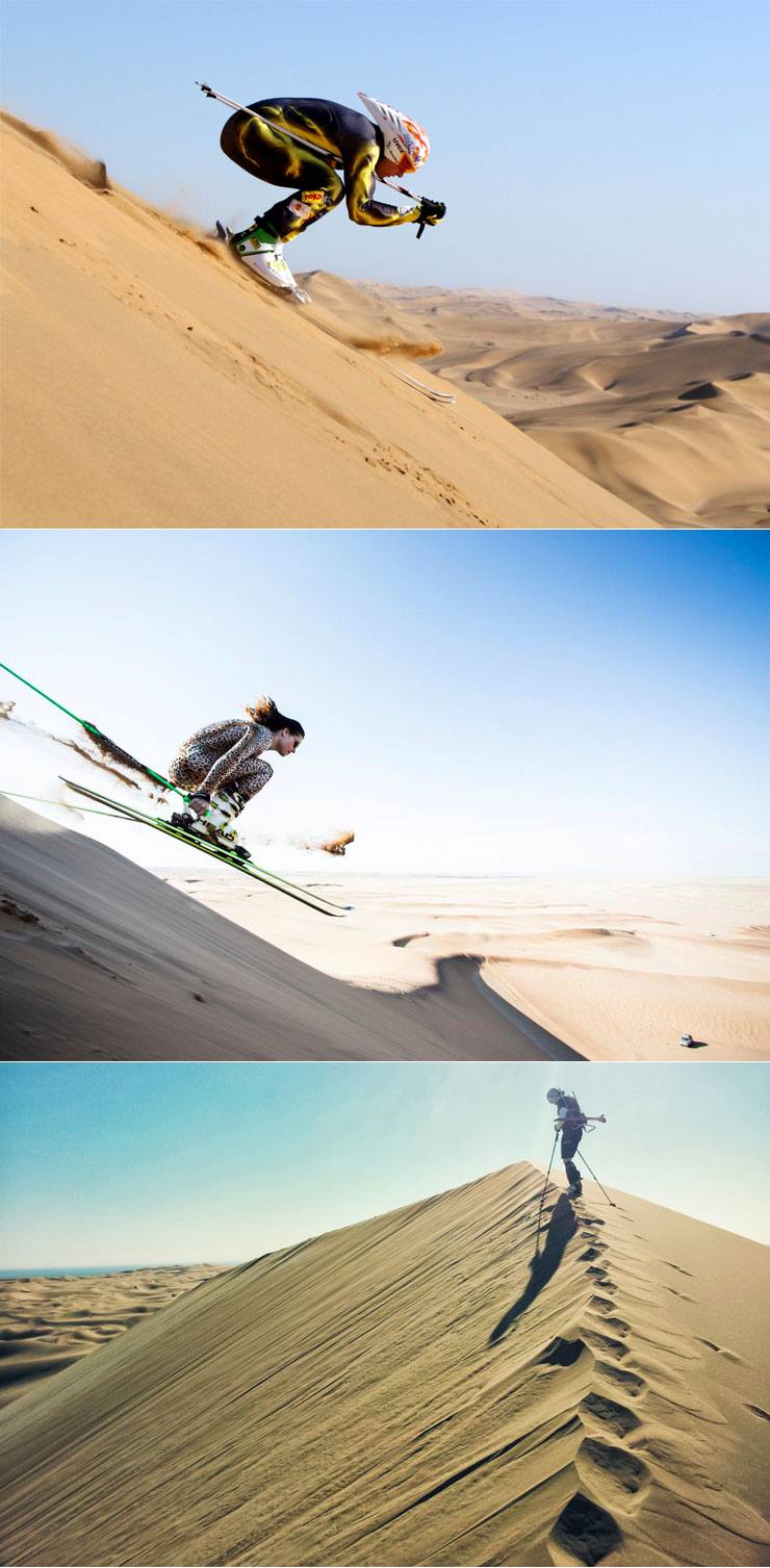 Shred Sand with the World's First Dune-Skiing Outfitter :: via Mens Journal