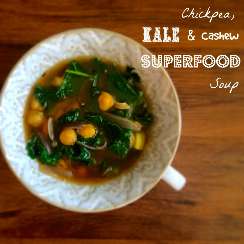 Chickpea, Cashew and Kale Superfood Soup
