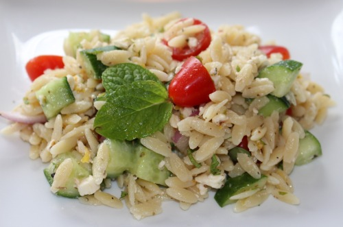 simple summer orzo