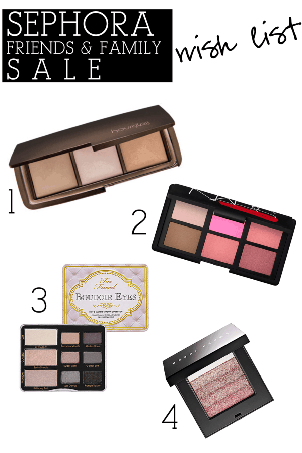 Sephora Friends and Family 2013 Wish List