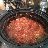 Slow Cooker Shredded Chicken and Tomatoes