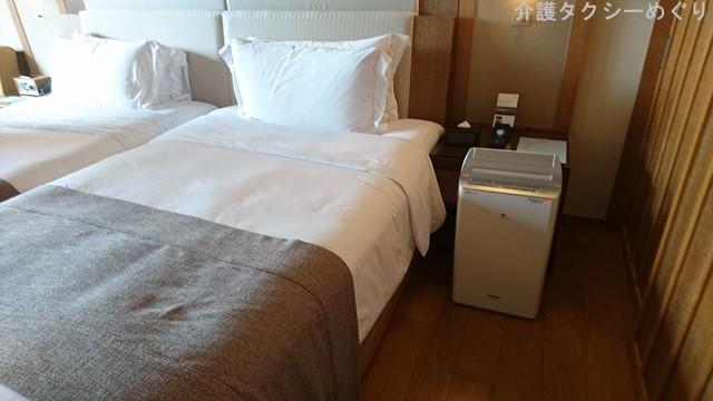 ベッド高さはユニバーサルルームと同様の60センチ
