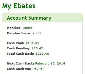 My Cash Back screen shot