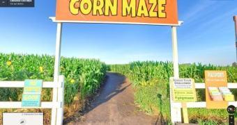 Explore um labirinto gigante de milho com o Google Street View