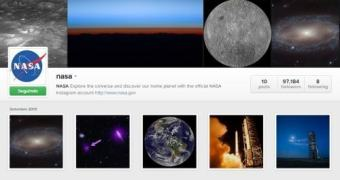 NASA entra no Instagram e conquista 90 mil seguidores em três dias
