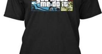Faça uma m****, use essa camiseta e jogue a culpa no GTA