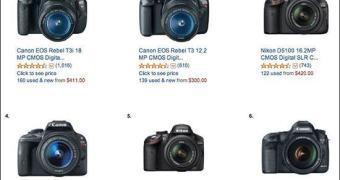 Câmeras fotográficas mais desejadas na Amazon