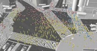 Veja o que acontece quando 1.500 pessoas tentam andar e usar o celular ao mesmo tempo