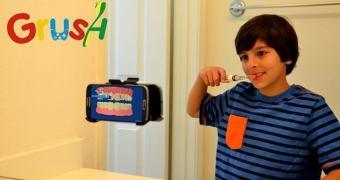 Grush, o jogo que incentivará seu filho a escovar os dentes