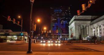 Um prédio de 29 andares e uma homenagem ao Tetris