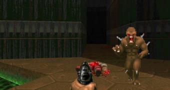 O Doom rodando em um caixa eletrônico