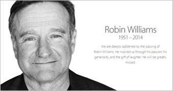 Apple homenageia Robin Williams com página e coleção no iTunes