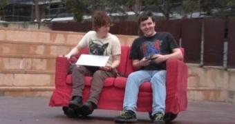 Um robô sofá controlado por um Raspberry Pi e um joystick