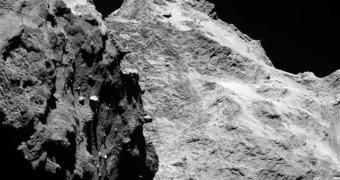 Imagem enviada pela sonda Rosetta mostra detalhes de asteróide