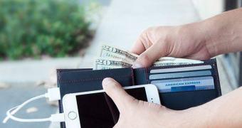 Carregue seu celular com o carregador da carteira