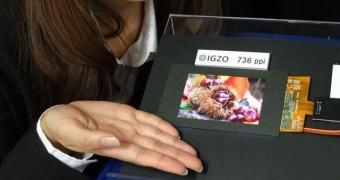 Sharp apresenta display IGZO de 4,1 polegadas com 736 ppi