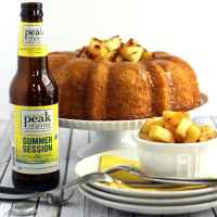 Pineapple Pale Ale Bundt Cake with Brown Sugar Glaze #BundtBakers
