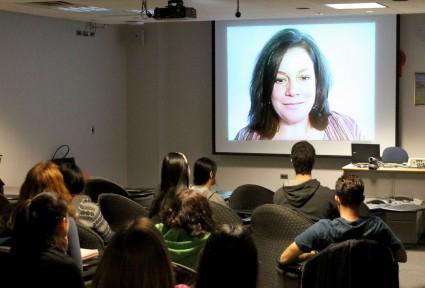 Missy presenting at Binghamton University for International Women's Day 2012