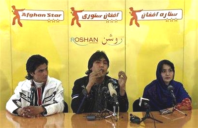 "3 contestants in ""Afghan Star"""