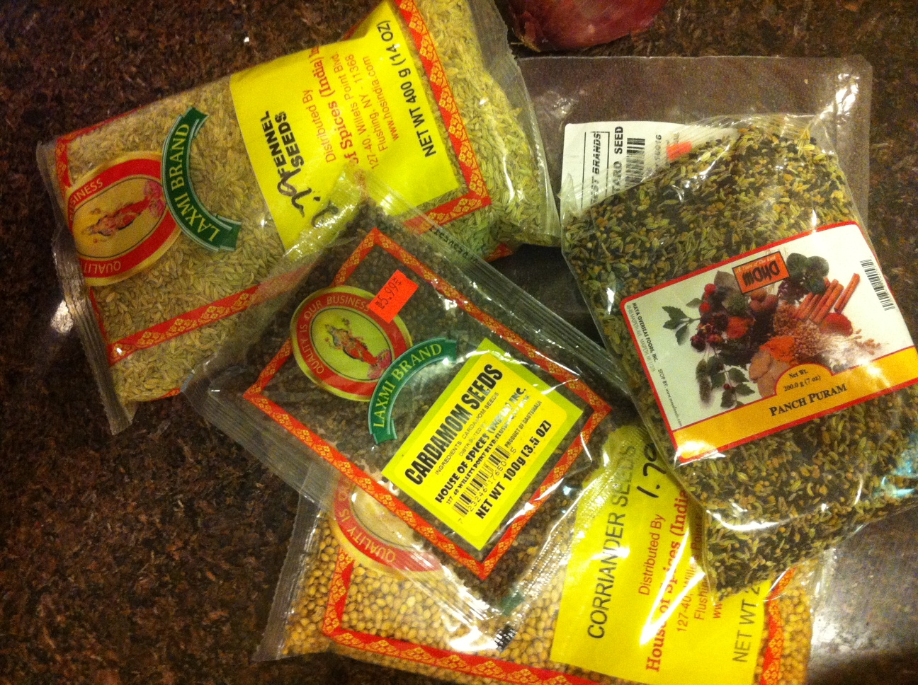 spices from Bengal and India
