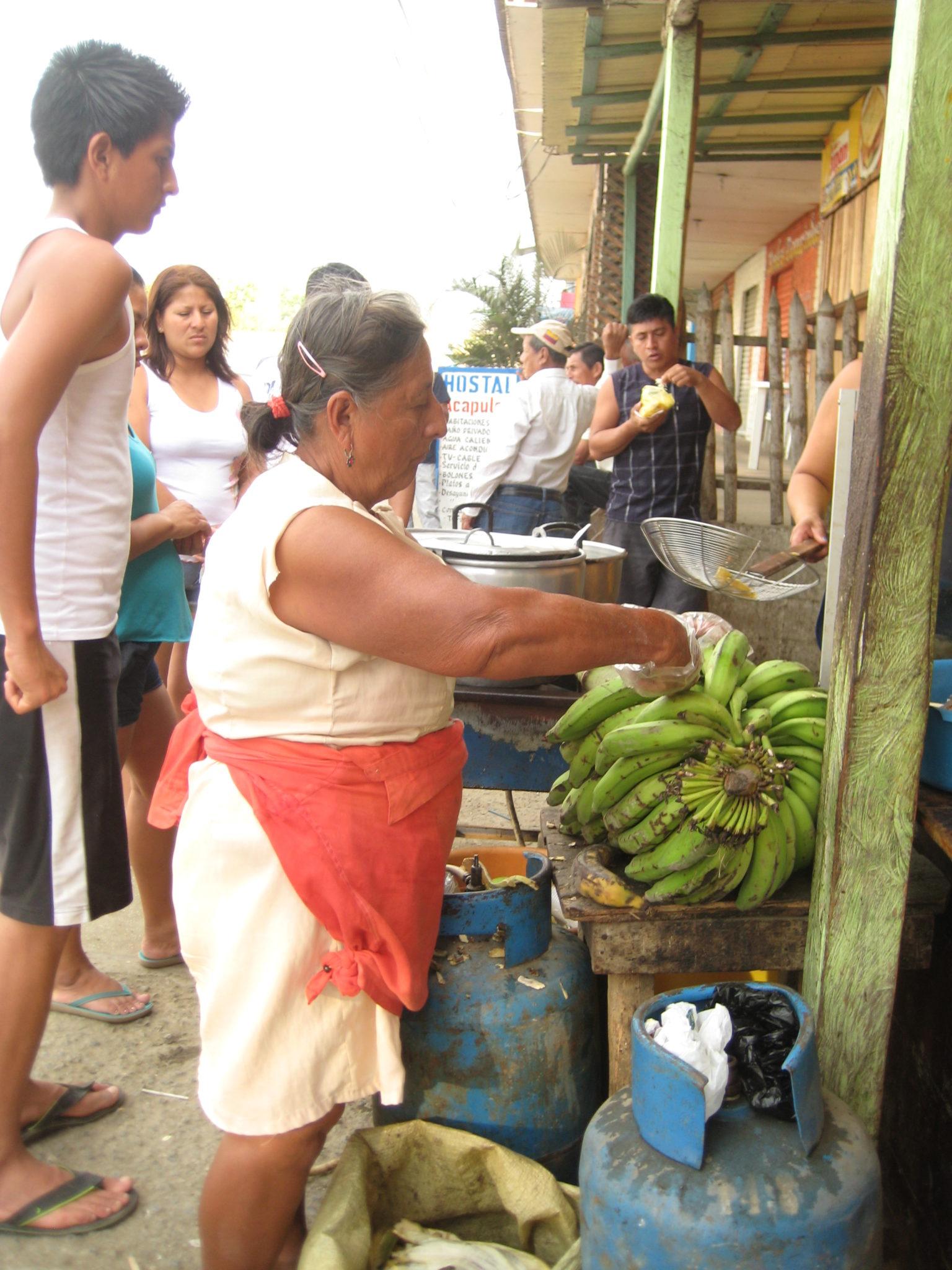 Plantains, a staple in Ecuador.